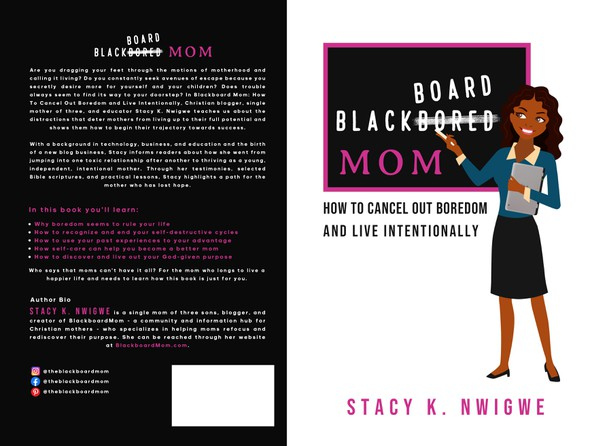 Avatar design with the title 'Black Board Mom '