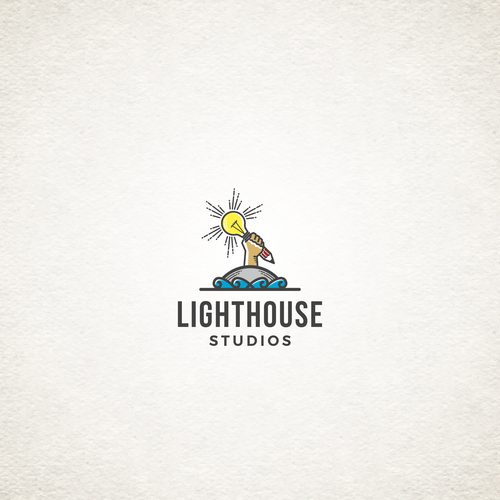 Lighthouse logo with the title 'logo for 2D Animation studio'