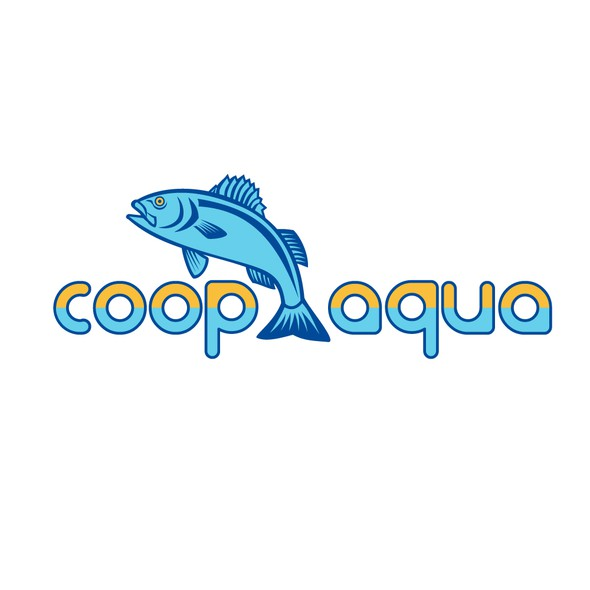 Bass design with the title 'Coop Aqua'