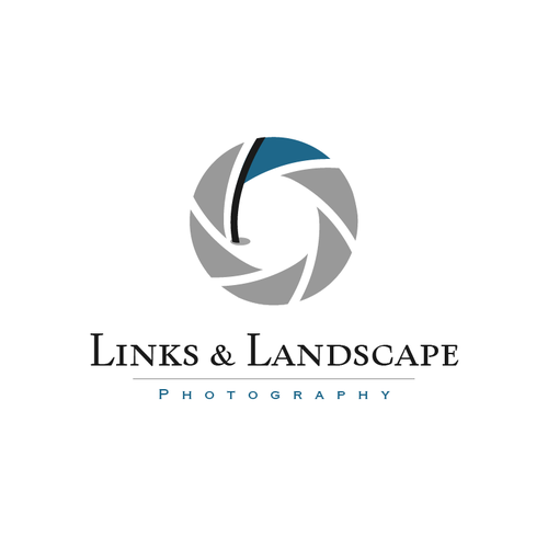 Golf logo with the title 'Links & Landscape Photography'