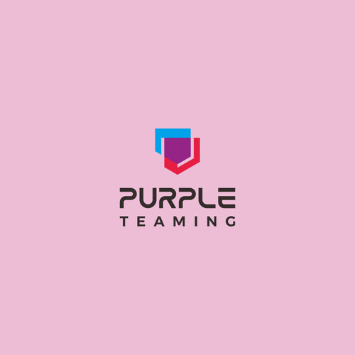 Serious design with the title 'Fun yet serious logo for hackers and defenders team: Purple Teaming'