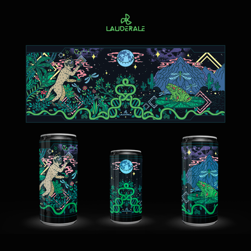 Mural design with the title 'Brewery Psychedelic Mural Design '