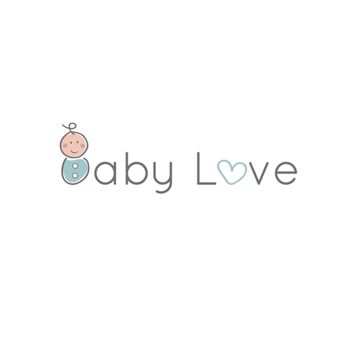 Awesome logo with the title 'Baby Love'