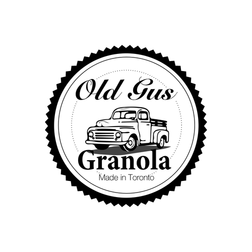 Log logo with the title 'Create a classic logo with illustration of vintage Ford truck'