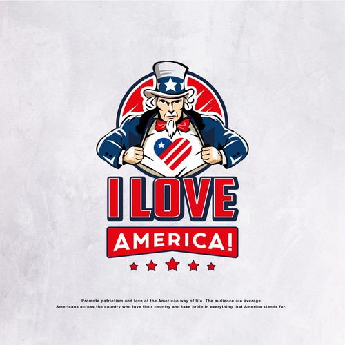 American eagle logo with the title 'Proud of America Campaign Logo'