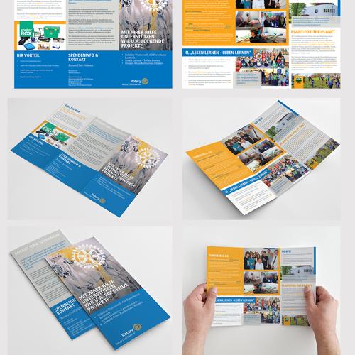 Tri-fold design with the title 'Rotary Dulmen Tri-fold Brochure'