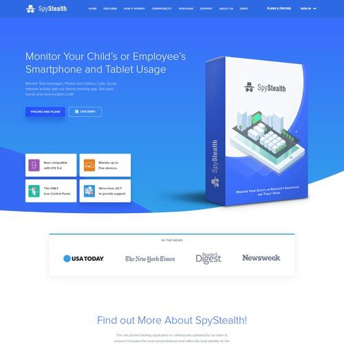 Sleek website with the title 'Sleek, modern , website design for Software company'