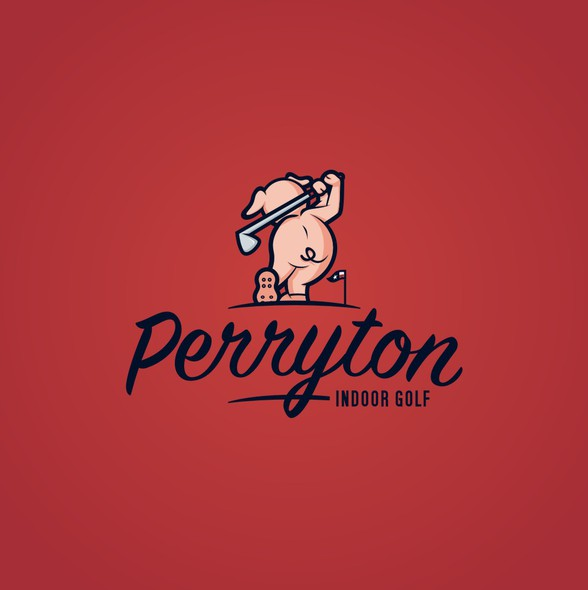 Golf club logo with the title 'New Logo for Perryton Indoor Golf Facility or P.I.G.'