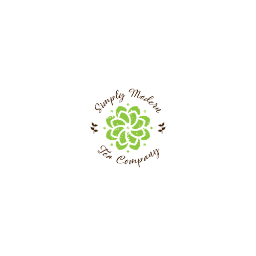 Curvy logo with the title 'modern tea'