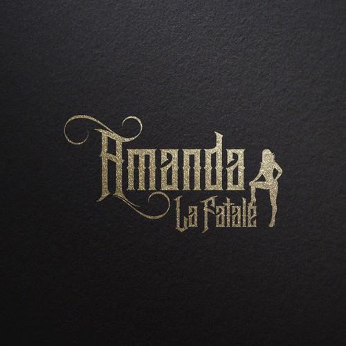 Classy logo with the title 'Amanda La Fatale Logo'