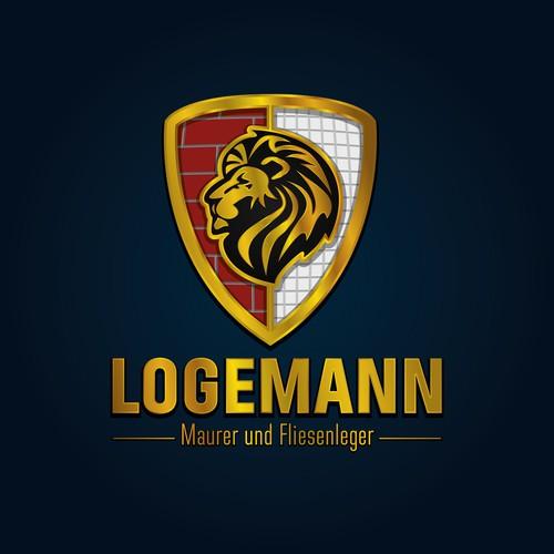 Mason logo with the title 'kombiniertes Logo für Maurer und Fliesenleger'