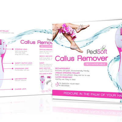 Attractive Packaging Design for an Electric Pedicure/Callus Remover