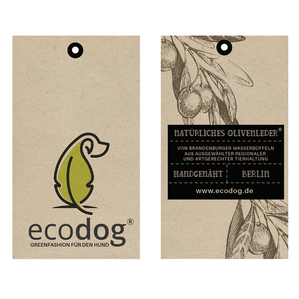Eco label with the title 'Natural label for ecodog'