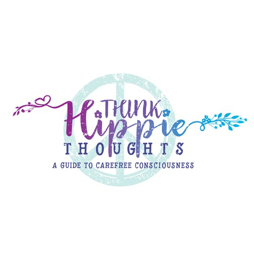 Girly logo with the title 'Hippie Logo'