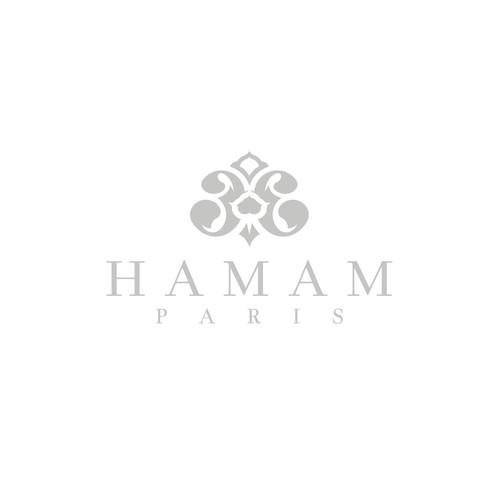 Royal design with the title 'Hamam Paris'