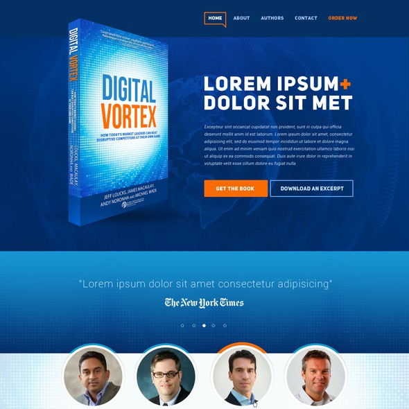 Book website with the title 'Digitally themed book website for IMD and Cisco!'