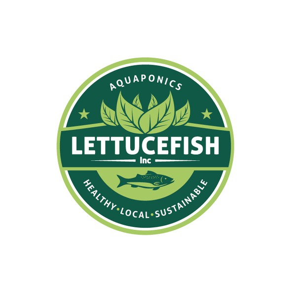 Aquaponics logo with the title 'Emblem for company specialized in aquaponics'