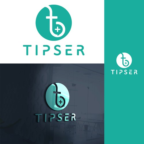 Pop-up logo with the title 'Sophisticated Logo design For Tipser'