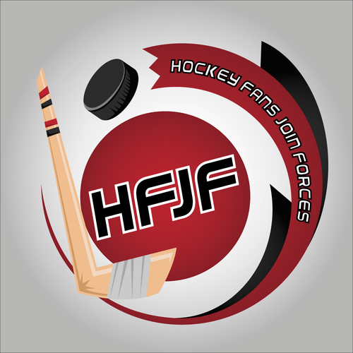 Fan logo with the title 'Hockey Fans Join Forces LOGO'