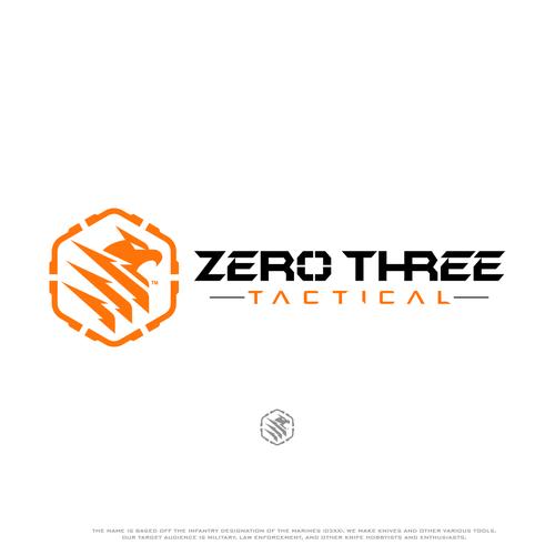 Eagle eye logo with the title 'Logo design for Zero Three Tactical'