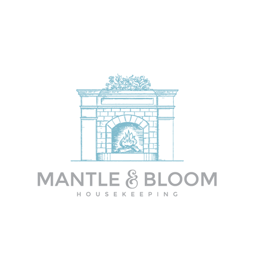 Granite logo with the title 'Logo design for Mantle and Bloom'