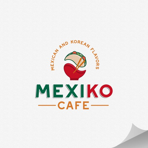 Cuisine logo with the title 'MEXIKO CAFE'