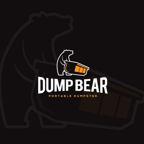 Bear claw logo with the title 'Clean Dumpster business logo'