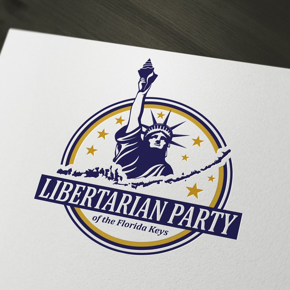 Liberty logo with the title 'Logo for Libertarian Party of the Florida Keys'