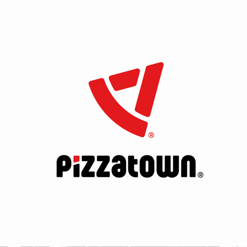 Town logo with the title 'Logo concept for pizzeria.'