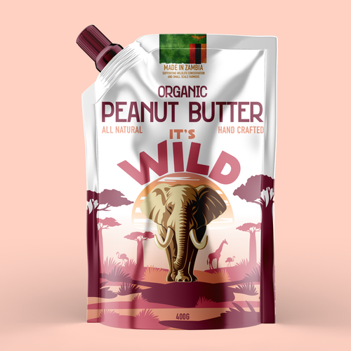 Peanut butter design with the title 'African peanut butter'