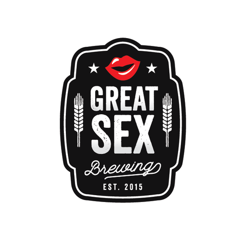 Lip logo with the title 'Design Logo for Great Sex Brewing'