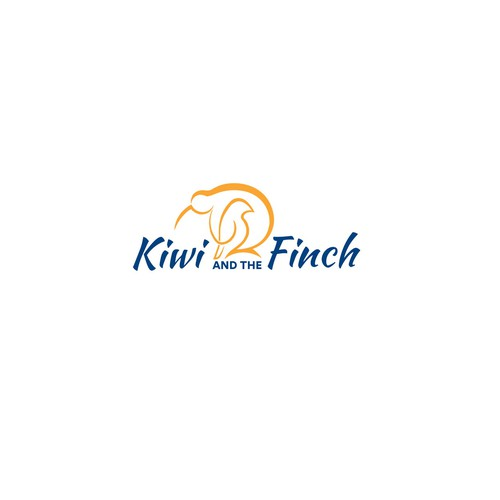 Kiwi design with the title 'Logo for Kiwi and the Finch'
