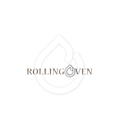 Oven design with the title 'Rustic, industrial logo for Rolling Oven'