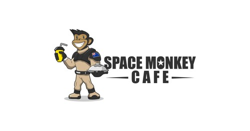 Monkey brand with the title 'Space Monkey Cafe'