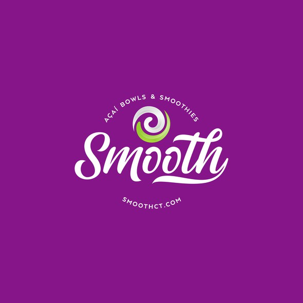 Bowl design with the title 'Logo Smooth Acai Bowls'