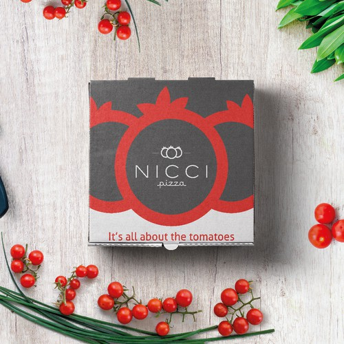 Pizza packaging with the title 'NICCI Pizza'