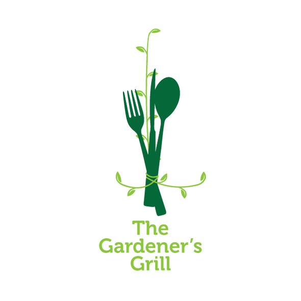 Dining logo with the title 'The Gardener's Grill (vegetarian eatery)'