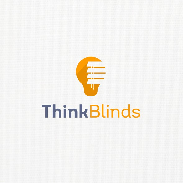 Blinds design with the title 'Think Blinds'