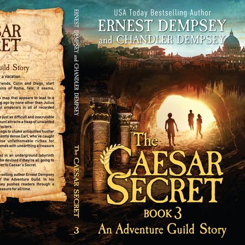 Dark book cover with the title 'The Caesar Secret book 3'