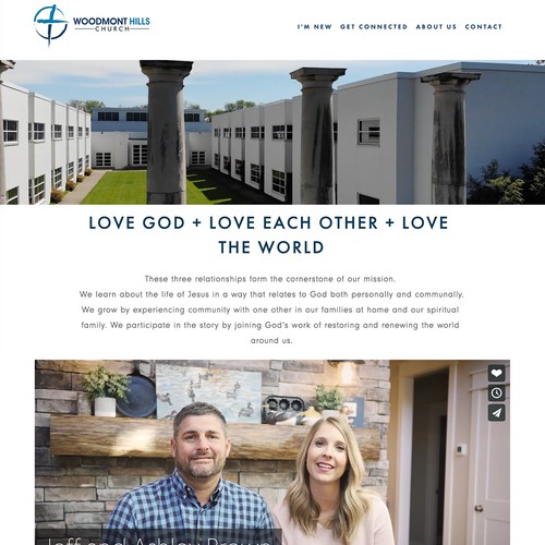 Tennessee design with the title 'Woodmont Hills Church Website'