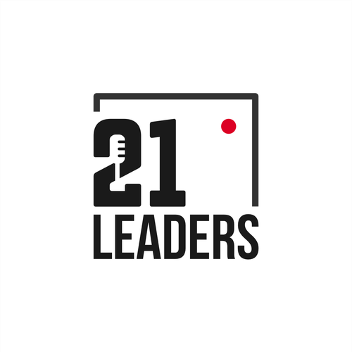 Talking design with the title '21 Leaders'
