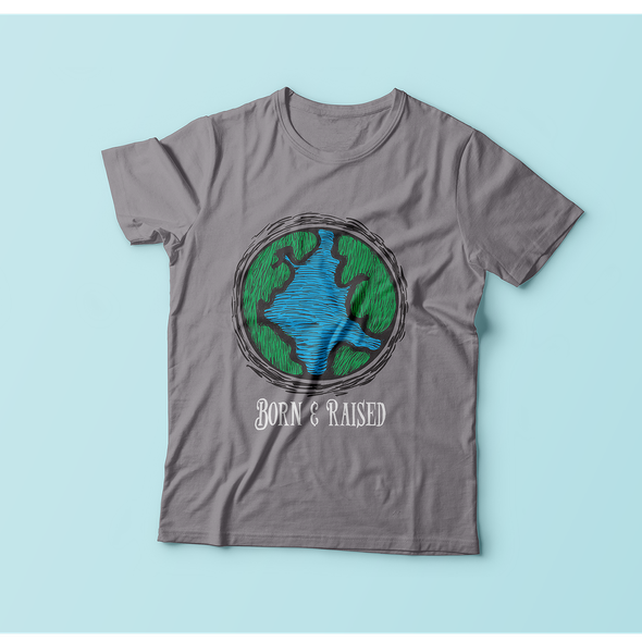Go green design with the title 'Earth T- Shirt'