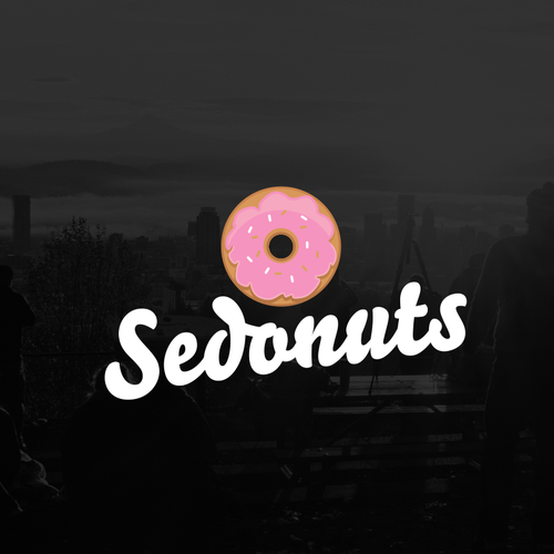 Delicious logo with the title 'donuts logo'