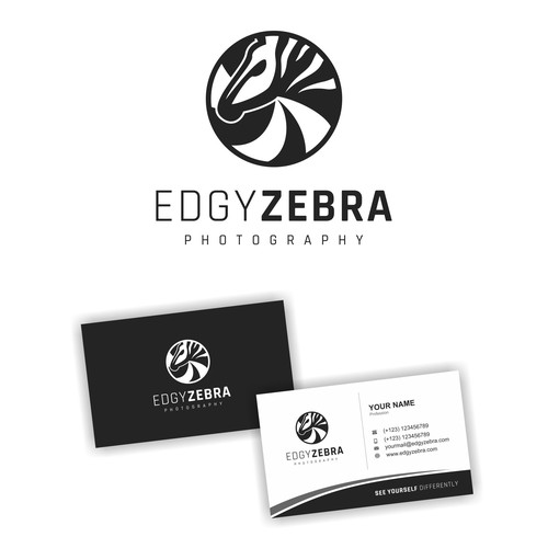 Camera brand with the title 'Logo Design for Edgy Zebra Photography'