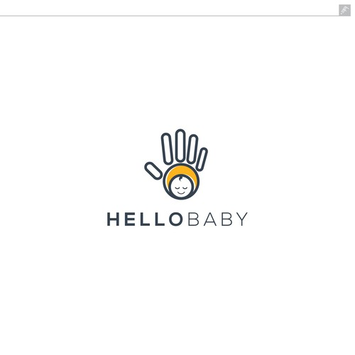 Hello logo with the title 'Hello Baby Logo'
