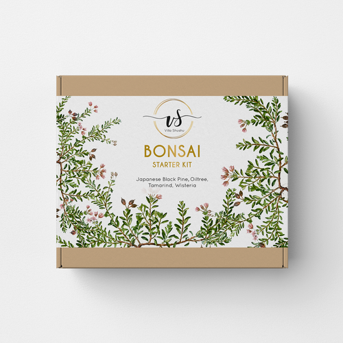 Botanical packaging with the title 'Bonsai'