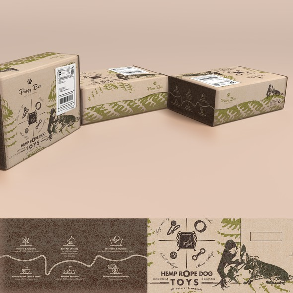 Eco-friendly packaging with the title 'Branding packaging with a natural feel (box shipping friendly)'