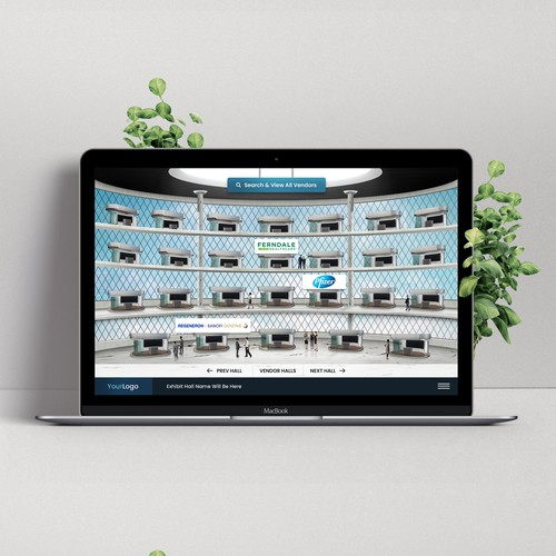 Exhibition design with the title 'Virtual exhibit hall website '