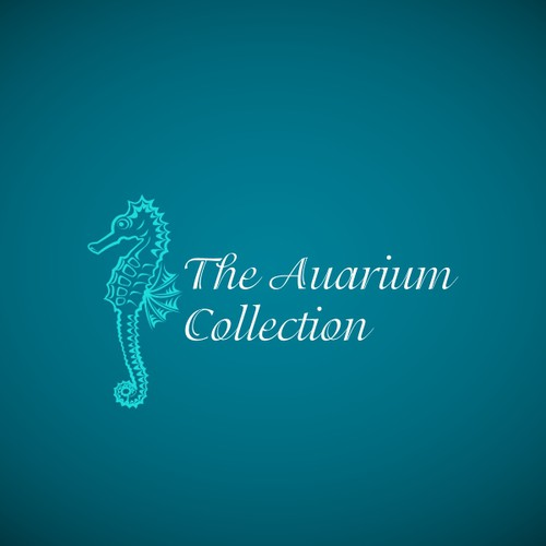 Seahorse logo with the title 'Logo Design for an aquarium store'