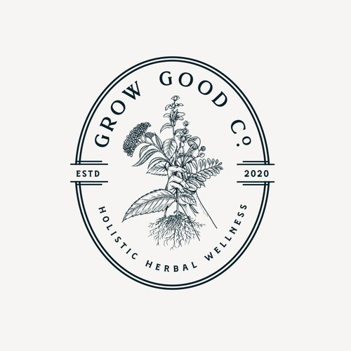 Plant logo with the title 'Grow Good Co'
